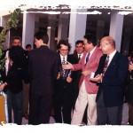 De frente y de izquierda    derecha, Enrique Morales, Juan Antonio Palacios, Vicepresidente Mancomunidad, José Carracao Presidente Mancomunidad, Salvador Pagan, Alcalde de La Línea, José Luis Villar, Concejal Ayto. La Línea y Rafal Sánchez.