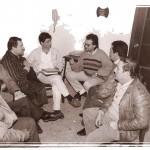 """Última reunión de Directiva Sede Sociedad """"El Halcón"""", de izquierda a derecha, Paco Rojas, Juan García Santana, Francisco Heras, Germán Domínguez, Enrique Morales, Antonio Martínez y Juan Ledesma."""